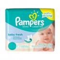 768 Lingettes Bébés Pampers Baby Fresh - 12 Packs de 64 sur Sos Couches