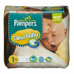 23 Couches de la marque Pampers New Baby taille 1 sur Sos Couches