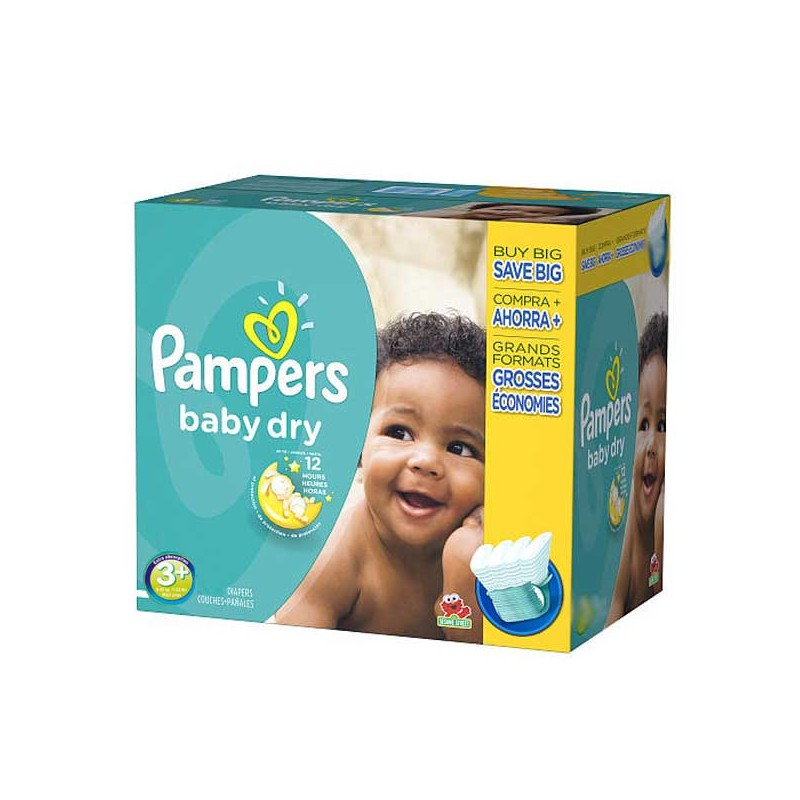 Achat 340 couches pampers baby dry taille 3 pas cher sur sos couches - Couches pampers baby dry ...
