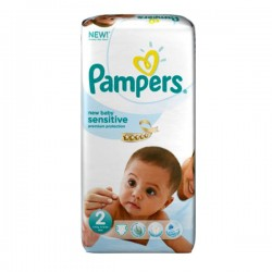 Pack 48 couches Pampers New Baby Sensitive