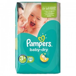82 Couches Pampers Baby Dry taille 3+