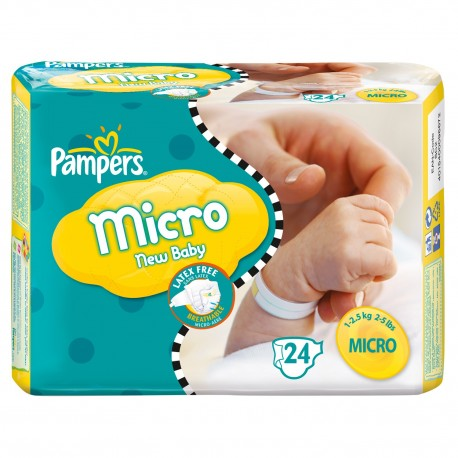 24 Couches Pampers New Baby Micro 0 sur Sos Couches