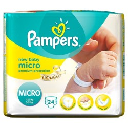 24 Couches Pampers New Baby Micro 0