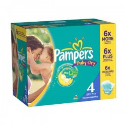 264 Couches Pampers Baby Dry taille 4 sur Sos Couches