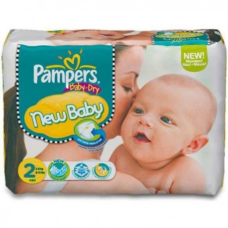72 Couches Pampers Baby Dry taille 2 sur Sos Couches