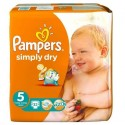 32 Couches Pampers Simply Dry 5 sur Sos Couches
