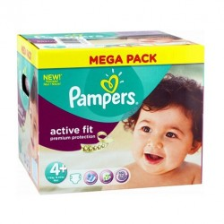 250 Couches Pampers Active Fit taille 4+ sur Sos Couches