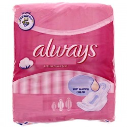 8 Serviettes hygiéniques Always Ultra Thin Coton taille Long