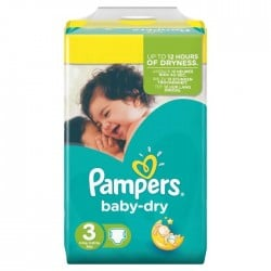 Pack 34 couches Pampers Baby Dry