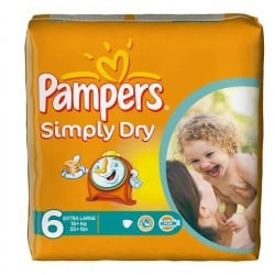Pack 62 couches Pampers Simply Dry