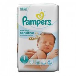 Pack 23 couches Pampers New Baby Sensitive
