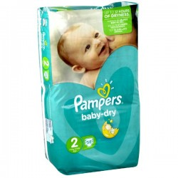 58 Couches Pampers Baby Dry 2
