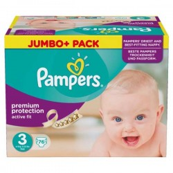 Maxi Giga Pack 252 couches Pampers Active Fit