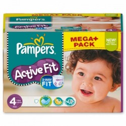 328 Couches Pampers Active Fit de taille 4 sur Sos Couches