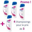 4 Shampooings Head & Shoulders Antipelliculaire Lisse et Soyeux - 4 au prix de 3 sur Sos Couches