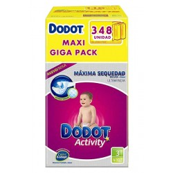 Maxi Giga Pack 348 couches Dodot Activity