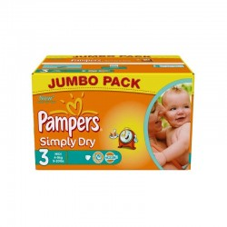 Pack 90 couches Pampers Simply Dry