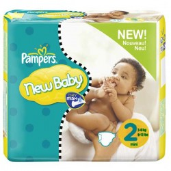 264 Couches Pampers New Baby de taille 2 sur Sos Couches