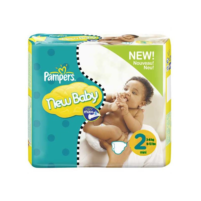 achat 264 couches pampers new baby taille 2 petit prix sur sos couches. Black Bedroom Furniture Sets. Home Design Ideas