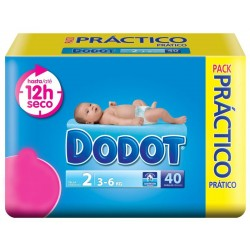 Pack 40 couches Dodot 3D