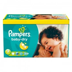 Giga Pack 104 Couches Pampers Baby Dry
