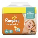 74 Couches Pampers Simply Dry 4 sur Sos Couches