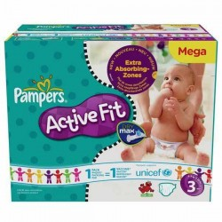 372 Couches Pampers Active Fit de taille 3 sur Sos Couches
