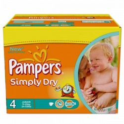 Maxi Giga Pack 276 couches Pampers Simply Dry