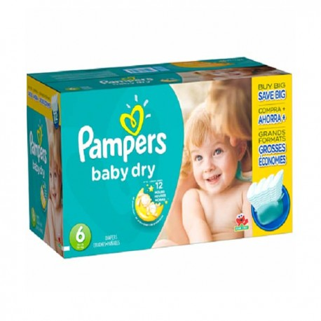 33 Couches Pampers Baby Dry taille 6 sur Sos Couches