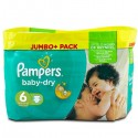 198 Couches Pampers Baby Dry 6 sur Sos Couches