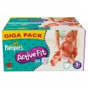 280 Couches Pampers Active Fit 3+ sur Sos Couches