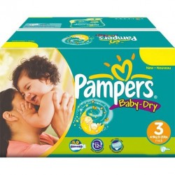 416 Couches Pampers Baby Dry 3