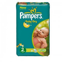 Pack 44 couches Pampers Baby Dry