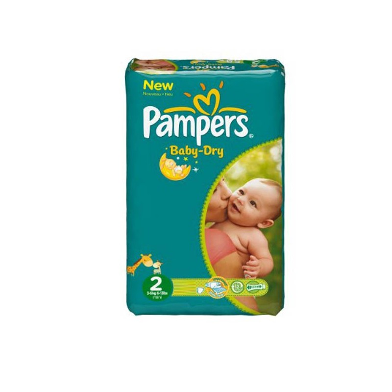 Achat 44 Couches Pampers Baby Dry Taille 2 Pas Cher Sur Sos Couches