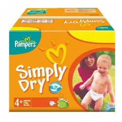 308 Couches Pampers Simply Dry 4+