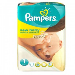 27 Couches Pampers New Baby de taille 1 sur Sos Couches