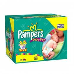 Maxi Giga Pack 252 Couches Pampers Baby Dry