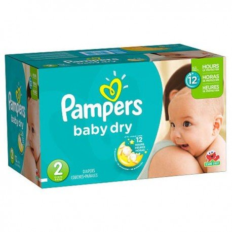252 Couches Pampers Baby Dry taille 2 sur Sos Couches