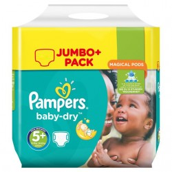 240 Couches Pampers Baby Dry taille 5+ sur Sos Couches