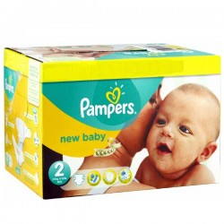 Pack 74 couches Pampers New Baby