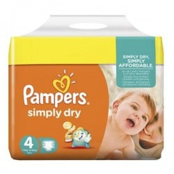 Pack 46 couches Pampers Simply Dry