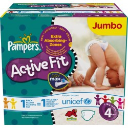 270 Couches Pampers Active Fit taille 4