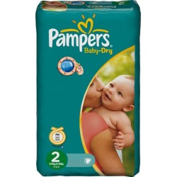 42 Couches Pampers Baby Dry taille 2