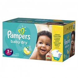 68 Couches de la marque Pampers Baby Dry taille 3+ sur Sos Couches