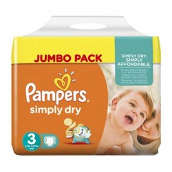 Pack 56 couches Pampers Simply Dry