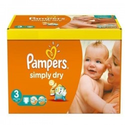 56 Couches Pampers Simply Dry 3