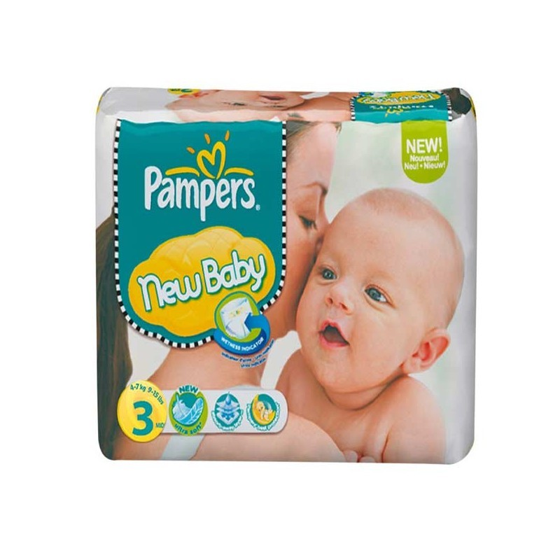 Achat 38 couches pampers new baby taille 3 pas cher sur - Couche pampers new baby taille pas cher ...