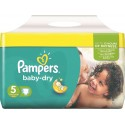 180 Couches Pampers Baby Dry taille 5 sur Sos Couches
