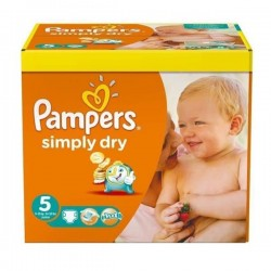 Maxi Giga Pack 246 couches Pampers Simply Dry