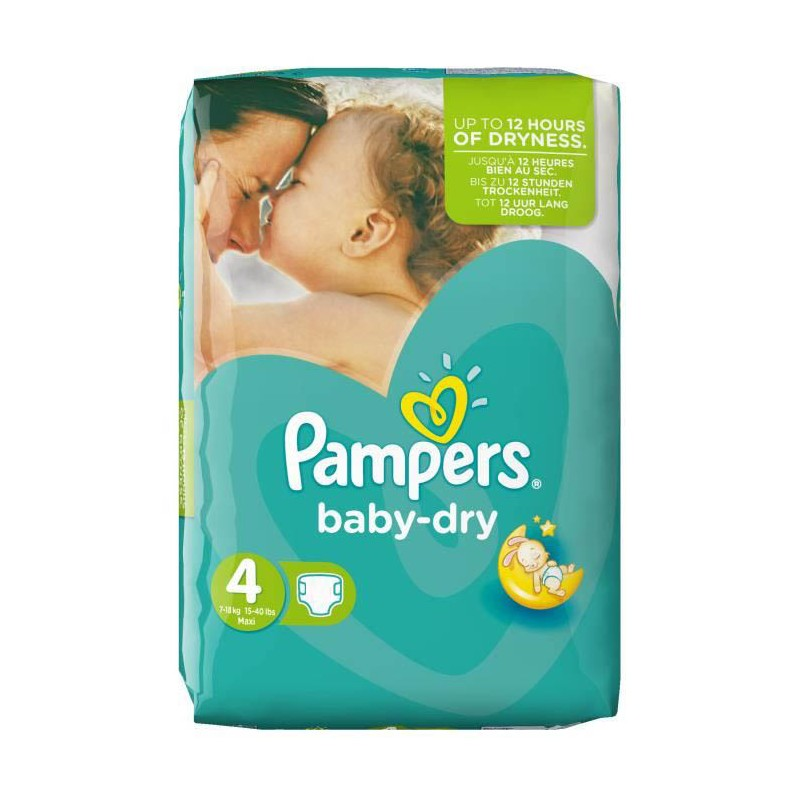 Achat 62 couches pampers baby dry taille 4 en solde sur sos couches - Couches pampers baby dry ...